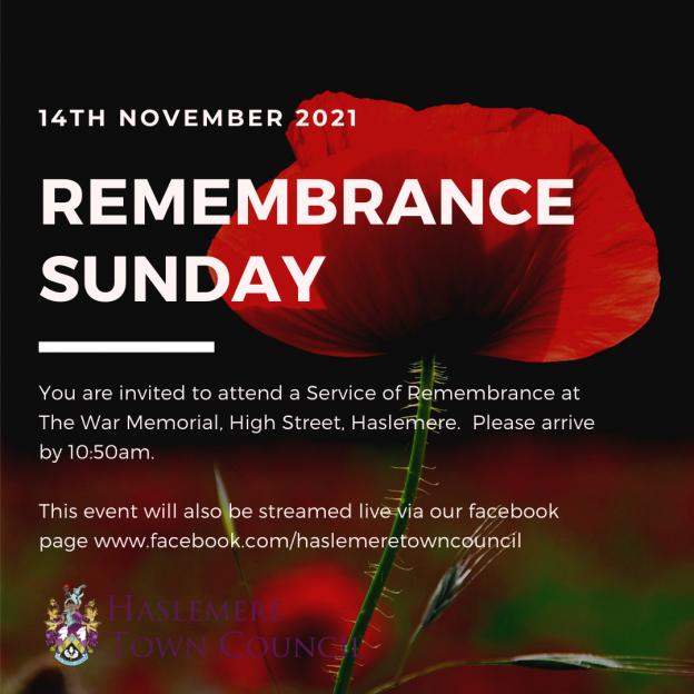 Remembrance Sunday – 14th November 2021